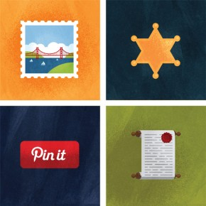 Pinterest Illustrations by Matt Stevens