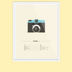 Analog Camera Illustrations by Audrey Lafarga
