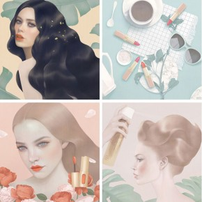 L'oreal Paris - Digital Paintings by Hsiao-Ron Cheng