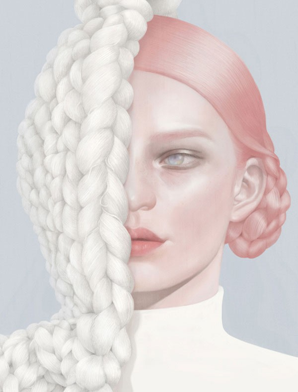 KNITTING - fashion inspired artwork from a collection of self promotional work.