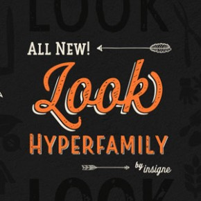 Look Fonts - Vintage Hyperfamily from Insigne
