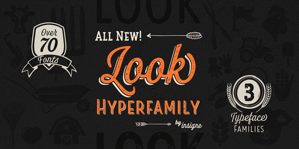 Look is a versatile hyperfamily from insigne type foundry.