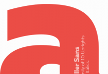 Muller Sans, a font family of 10 uprights and 10 italics.
