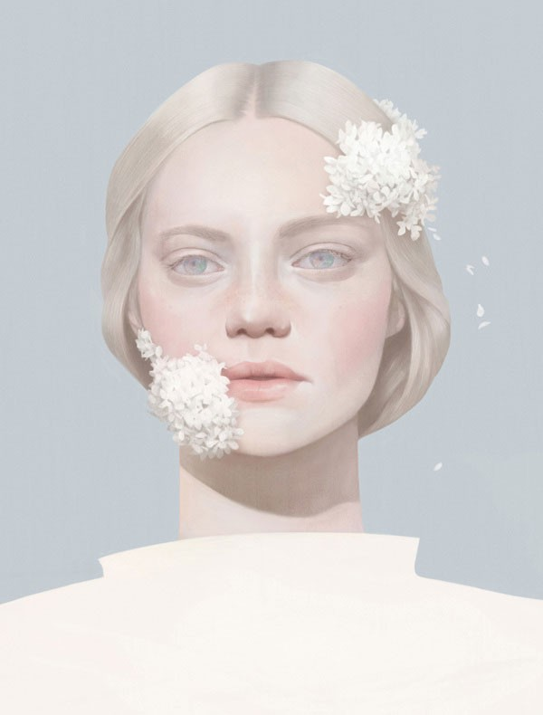 SU - Fashion inspired portrait by Taiwanese illustrator Hsiao-Ron Cheng (鄭曉嶸).