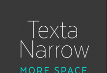 Texta Narrow font family from Latinotype.