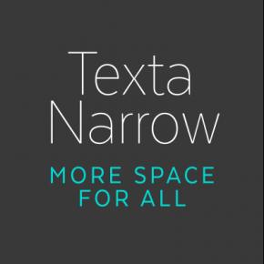 Texta Narrow Font Family from Latinotype
