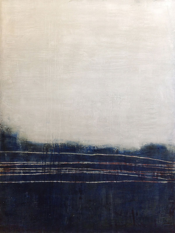 Thawing Out - Contemporary abstract paintings by artist Jeff Erickson - created with oil and wax on panel.