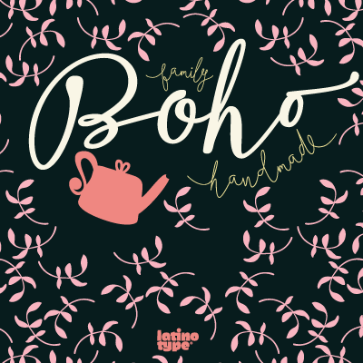 Boho Fonts from Latinotype