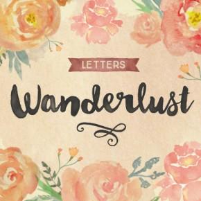 Wanderlust Letters - Hand Painted Script Typeface