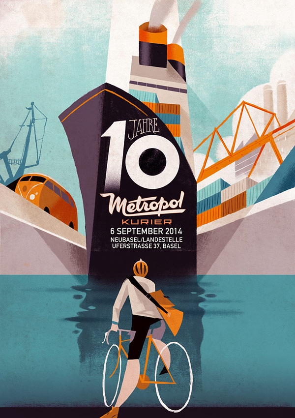 10 years of Metropol Kurier - Illustrations by Riccardo Guasco.