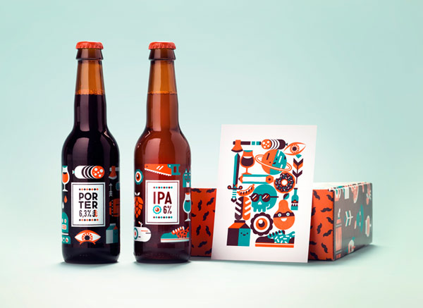 Anniversary beer by Netherlands based graphic design and illustration studio, Patswerk.