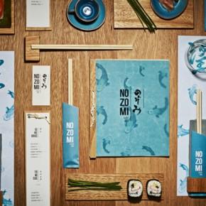 Nozomi Sushi Bar Branding by Masquespacio