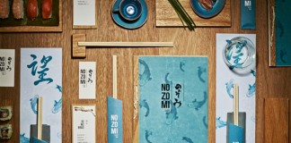 Branding project by studio Masquespacio for the Nozomi Sushi Bar.