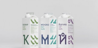 Cheburashkini Brothers dairy packaging by Moscow, Russia based studio Ermolaev Bureau.