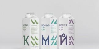 Cheburashkini Brothers dairy packaging by Moscow, Russia based studio Ermolaev Bureau.