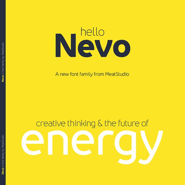 Nevo Font Family by Stew Deane