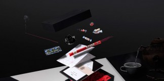 Press box design by lundgren+lindqvist for fashion brand Elvine's Spring/Summer 2015 collection.