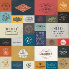 50 Vintage Logo Templates Bundle