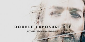 The Double Exposure Kit with Adobe Photoshop actions, textures, and gradients.