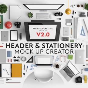 Header and Stationery Mock Up Creator - V2
