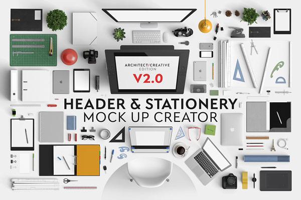 header and stationery mock up creator v2