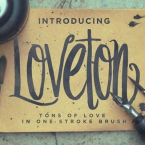 Loveton Typeface - Handmade Script Font