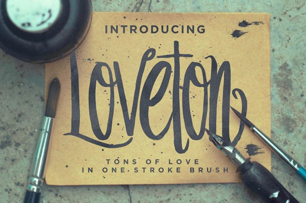 The Loveton Typeface Is A Hand Drawn Swirly Script Font With Vertical Body