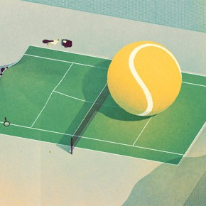 Conceptual Tennis Illustrations by Karolis Strautniekas