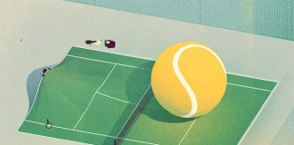 Work from a series of conceptual illustrations created by Vilnius, Lithuania for a Tennis magazine.