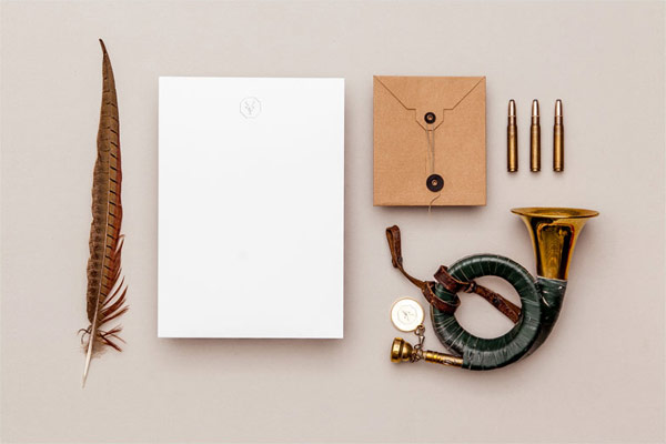 Simple and clean stationery.