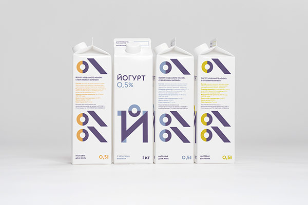 Milk packaging design by Ermolaev Bureau.