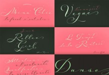 Mina Chic typeface from Resistenza.