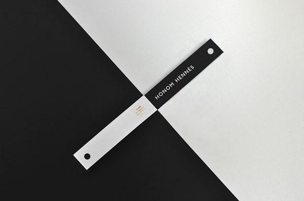 Modern and clean branding by Firmalt for Honom Hennés.