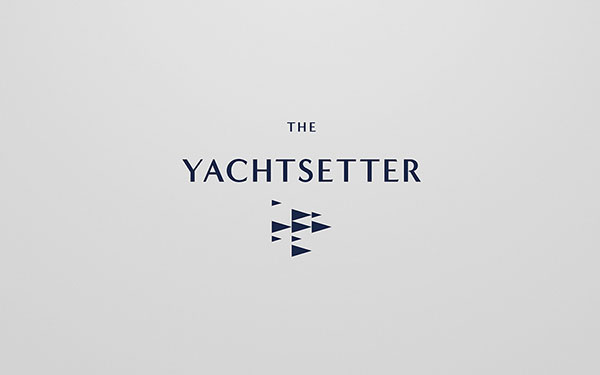 The Yachtsetter - blue logo and logotype.