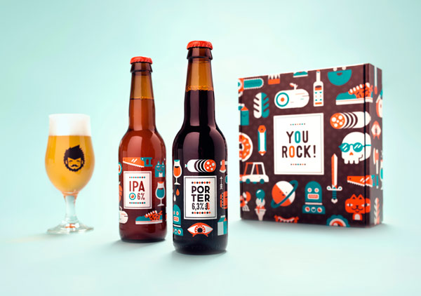 Beer and packaging design by studio Patswerk for their 7th anniversary.