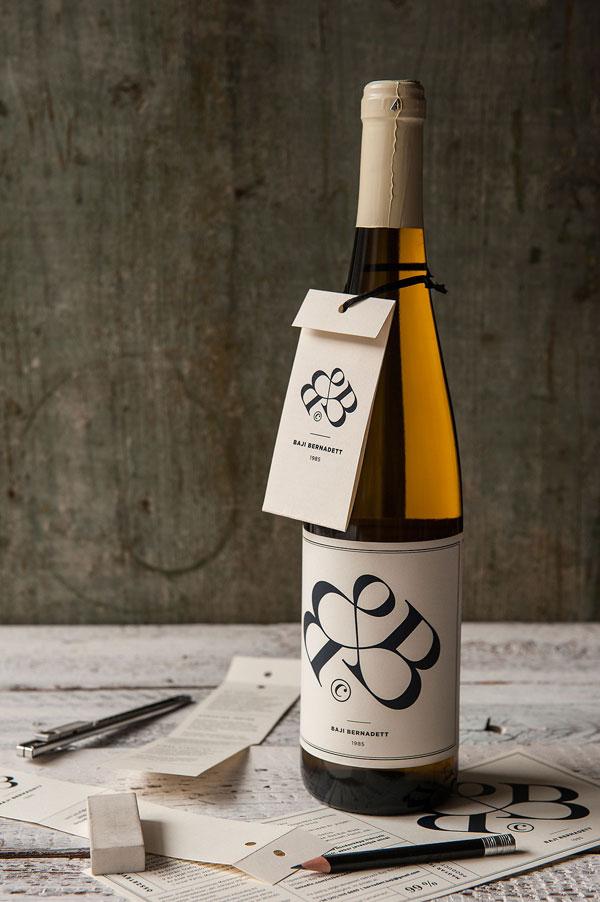 Bernadett Baji's wine label for 2015 create by kissmiklos.