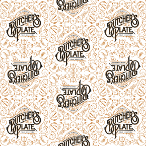 Hand-Drawn Logotype for Butcher's Plate
