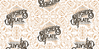 Butcher's Plate logo and pattern illustration by Martin Schmetzer, a designer and illustrator based in Stockholm, Sweden.