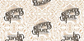 Butcher's Plate logo and pattern illustration by Martin Schmetzer, a designer and illustrator based in Stockholm, Sweden.