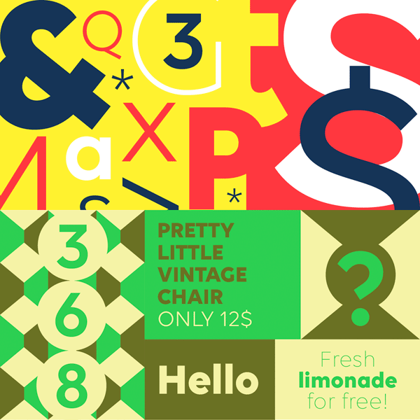 This typeface by font designer Namrata Goyal conveys a modern and sturdy look.