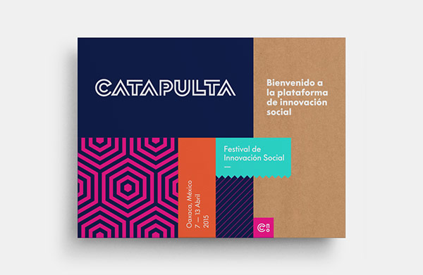 Example of branding materials created for a social innovation platform and festival located in Oaxaca.