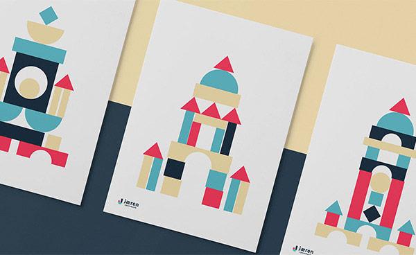 Jæren Sparebank illustrative brand design.