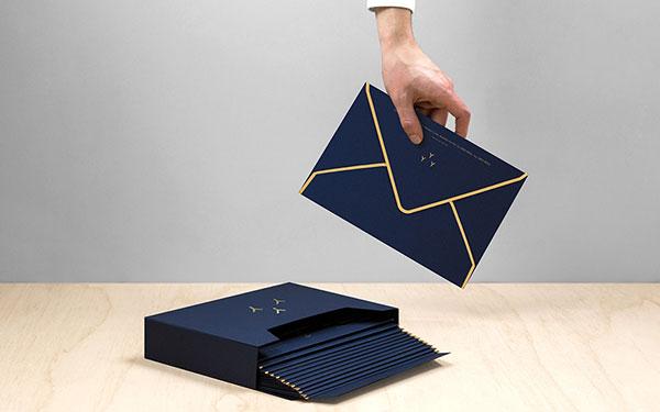 Also the envelopes convey a sense of luxury.