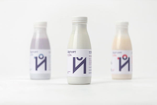 Dairy bottles - packaging design.