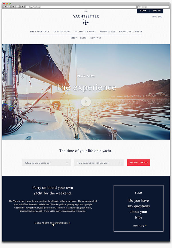 The Yachtsetter – Branding by Anagrama