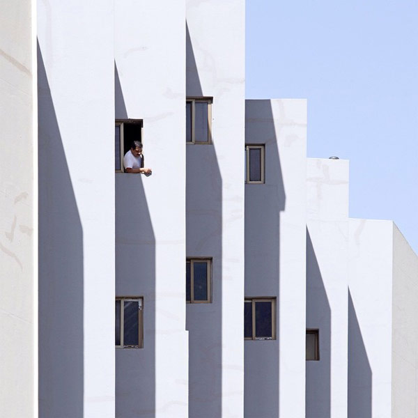 An almost surreal reality of architectural shapes captured by photographer Serge Najjar.