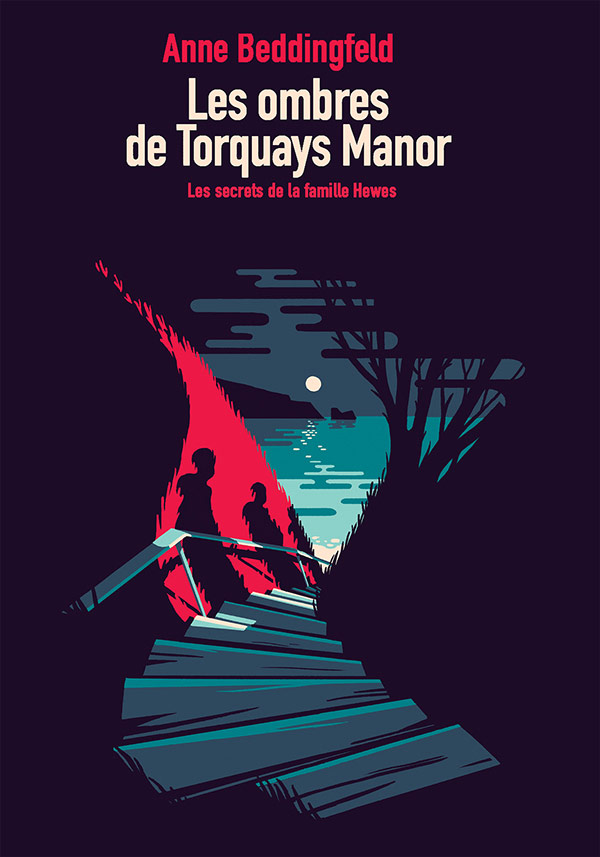 Anne Beddingfeld - Les ombres de torquay's Manor - book cover proposal.
