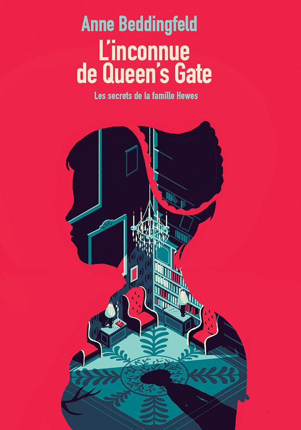 Anne Beddingfeld - L'inconnue de Queen's Gate - design by French illustrator Tom Haugomat.