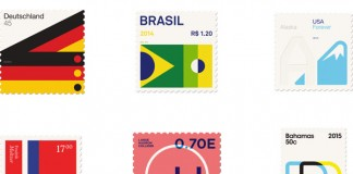 Basic Stamps designed by Duane Dalton from an ongoing design series that combines his love of design a stamps.
