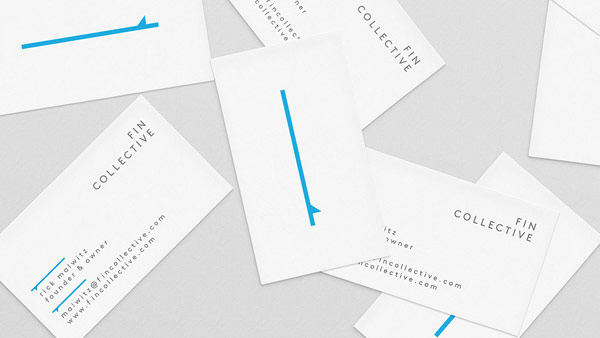 Fin Collective - business cards of founder Rick Malwitz.